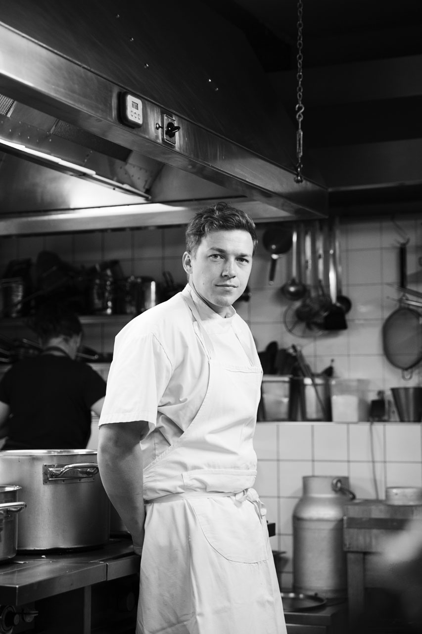 Julian Mullan, Philip Rachinger for L'Uomo Vogue, Philip in the kitchen