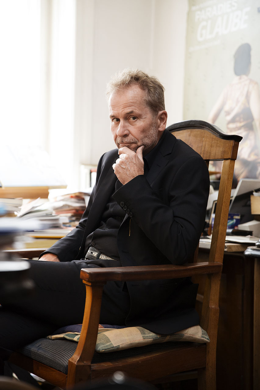 Julian Mullan, Ulrich Seidl for L'Uomo Vogue, Ulrich in his office